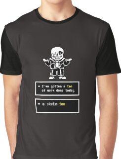 Undertale - Sans Skeleton - Undertale  Graphic T-Shirt
