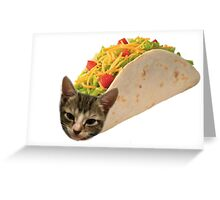 Cat in a Taco Greeting Card