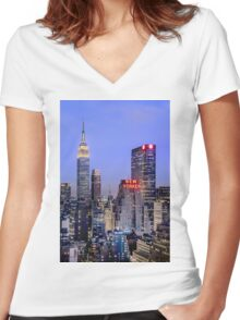 Made In New York Women's Fitted V-Neck T-Shirt
