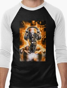 Disco god portrait Men's Baseball ¾ T-Shirt