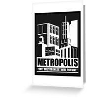 Metropolis (BLACK) Greeting Card