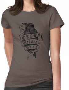 Crows before hoes vintage Womens Fitted T-Shirt
