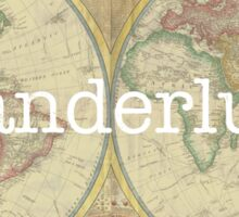 Wanderlust Map Sticker