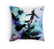 Peter Pan's Forever Young Throw Pillow
