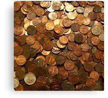 US COINS Canvas Print