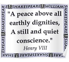 A Peace Above All - Shakespeare Poster