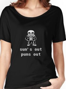 Sans - Sun's out Puns out Women's Relaxed Fit T-Shirt