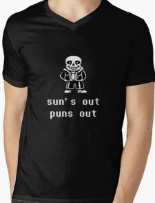 Sans - Sun's out Puns out Mens V-Neck T-Shirt