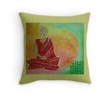 White Tara Meditation 1 Throw Pillow