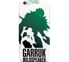Green silhouette iPhone Case/Skin
