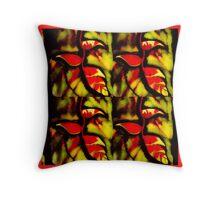 Haliconias faded  Throw Pillow