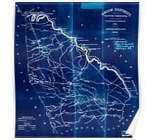 Civil War Maps 1874 Union District South Carolina Inverted Poster