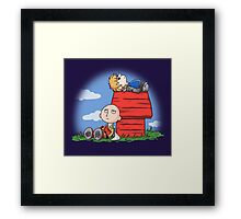 ONE PUNCH PEANUT Framed Print
