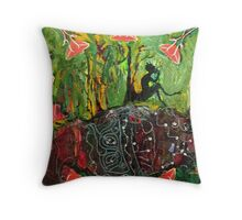 Pan showing roots into the Earth. Throw Pillow