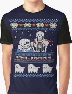 Sans and Papyrus Festive Sweater Design Graphic T-Shirt