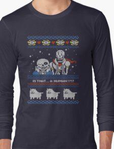 Sans and Papyrus Festive Sweater Design Long Sleeve T-Shirt