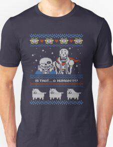 Sans and Papyrus Festive Sweater Design T-Shirt
