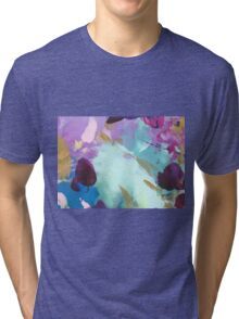 Abstract Painting in mint and mauve 15/18 Tri-blend T-Shirt