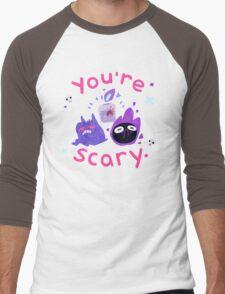 You're scary. (Ghost pokemon) Men's Baseball ¾ T-Shirt