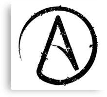 ATHEISM SYMBOL Canvas Print