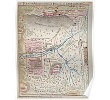 Civil War Maps 1300 Plan of Andersonville Prison or ''Camp Sumter'' April 1864 Poster