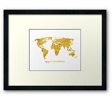Gold Adventures Framed Print