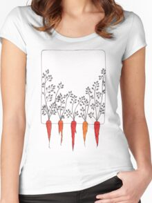 The Field of Carrots Women's Fitted Scoop T-Shirt