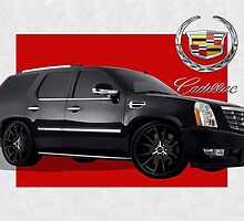 Cadillac Escalade with 3 D Badge  by Serge Averbukh