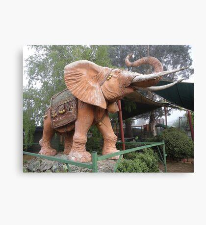 Elephant Sculpture, Nimmitabel, Australia 2011 Canvas Print