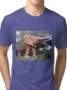 Elephant Sculpture, Nimmitabel, Australia 2011 Tri-blend T-Shirt