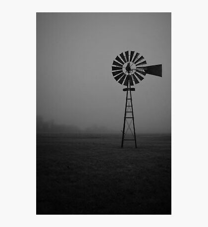 Foggy Windmill Photographic Print