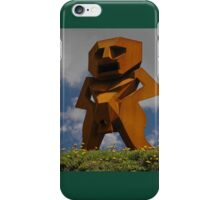 Rusty Man, Sculptures By The Sea, Australia 2010 iPhone Case/Skin
