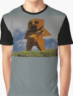 Rusty Man, Sculptures By The Sea, Australia 2010 Graphic T-Shirt
