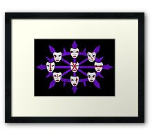 The Faces Of Hagan Framed Print