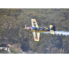 Matt Hall Aerobatics @ Catalina Festival, Australia 2013 Photographic Print