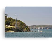 HMAS Sydney Monument & Tall Ships Departure 2013 Canvas Print