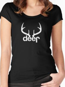 Jeep Deer Sticker and T shirts Women's Fitted Scoop T-Shirt