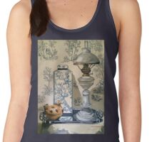 Still life with ginger jar and lamp, on toile. 2012Ⓒ Oil on canvas Women's Tank Top
