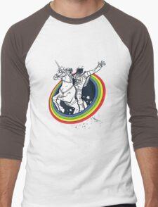 Astronaut riding a unicorn Men's Baseball ¾ T-Shirt
