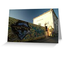 Grafitti - Chrome Face, Bordeaux, France, Europe 2012 Greeting Card