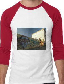 Grafitti - Chrome Face, Bordeaux, France, Europe 2012 Men's Baseball ¾ T-Shirt