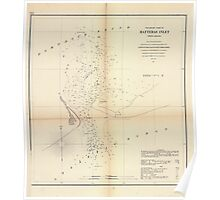 Civil War Maps 1474 Preliminary chart of Hatteras Inlet North Carolina Poster
