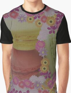 Macaroons and Floral Delights Graphic T-Shirt