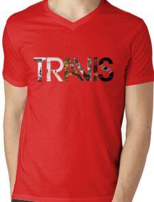 Travis - Albums Logo Mens V-Neck T-Shirt