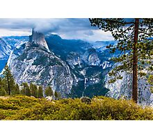 Yosemite Half Dome in Clouds Photographic Print