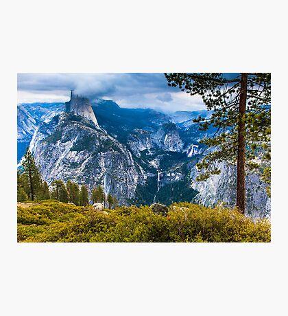 Yosemite Half Dome in Clouds Photographic Print