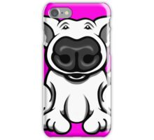 English Bull Terrier Cartoon Big Nose iPhone Case/Skin