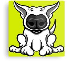 English Bull Terrier Cartoon Big Nose Metal Print