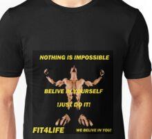 Workout motivational prints Unisex T-Shirt