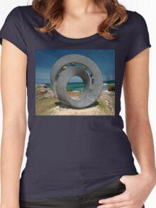 Spiral 2 @ Sculptures By The Sea, 2011 Women's Fitted Scoop T-Shirt
